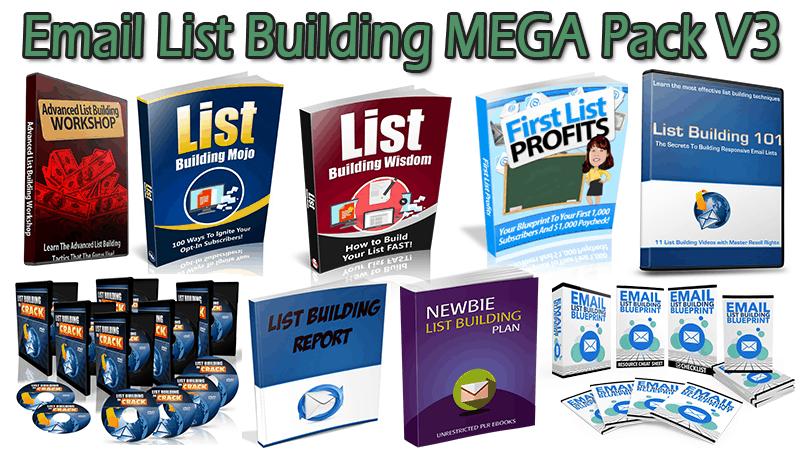Email List Building MEGA Pack V3