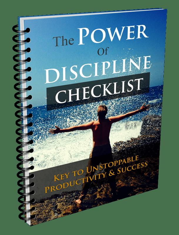 The Power Of Discipline Checklist