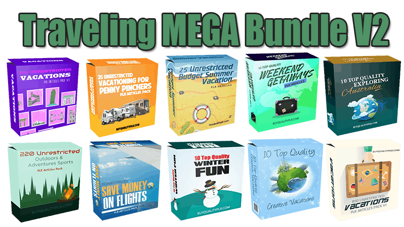 Traveling Mega Bundle V2 (Over 70% Discount)