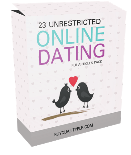 23 Unrestricted Online Dating PLR Articles Pack