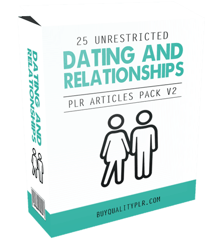 25 Unrestricted Dating and Relationships PLR Articles Pack V2