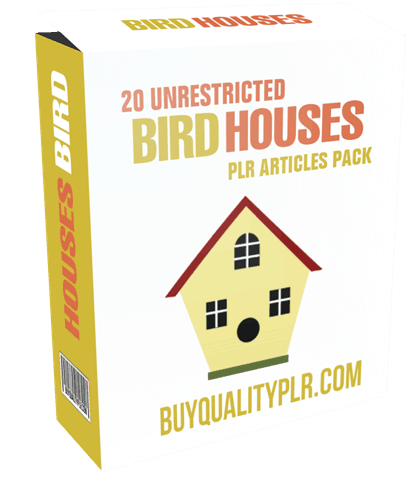 20 Unrestricted Bird Houses PLR Articles Pack