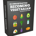 25 Unrestricted Becoming Vegetarian PLR Articles Pack