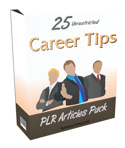 25 Unrestricted Career Tips PLR Articles Pack