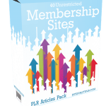 40 Unrestricted Membership Sites PLR Articles Pack
