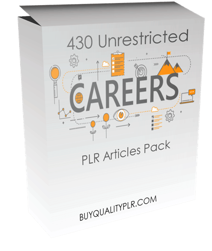 430 Unrestricted Careers PLR Articles Pack