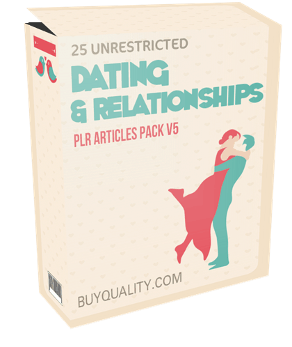 25 Unrestricted Dating and Relationships PLR Articles Pack V5