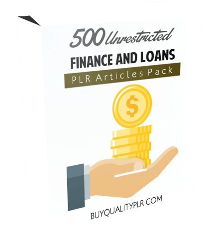 500 Unrestricted Finance and Loans PLR Articles Pack