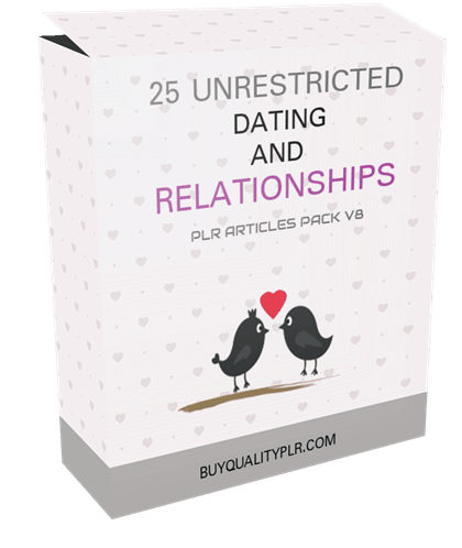25 Unrestricted Dating and Relationships PLR Articles Pack V8