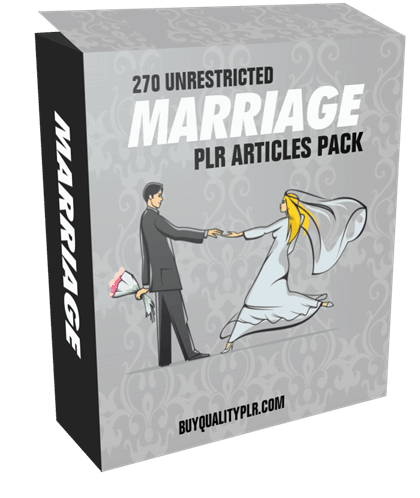 270 Unrestricted Marriage PLR Articles Pack