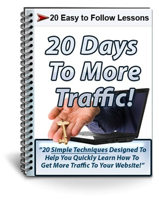 20 Days To More Traffic PLR Newsletter eCourse