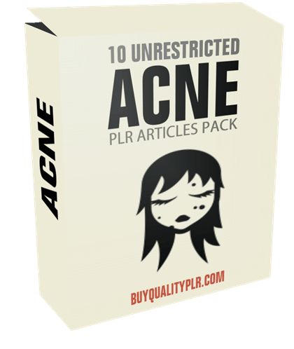 10 Unrestricted Acne PLR Articles Pack