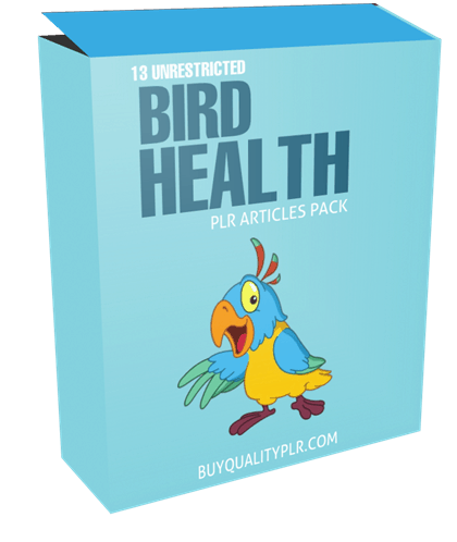 13 Unrestricted Bird Health PLR Articles Pack