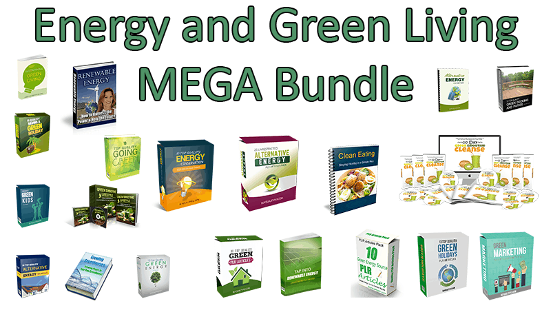 Energy and Green Living Mega Bundle