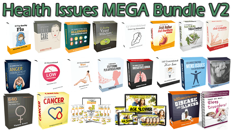 Health Issues MEGA Bundle V2
