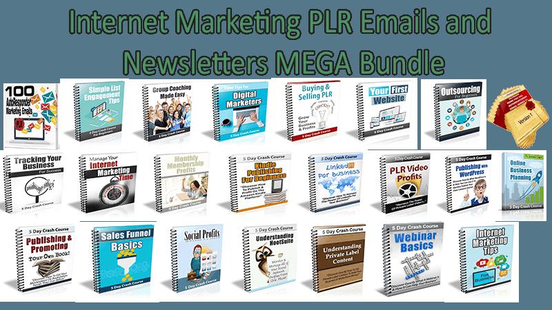 Internet Marketing PLR Emails and Newsletters MEGA Bundle