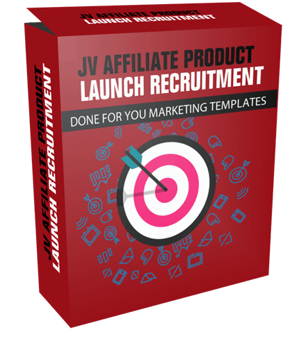 JV Affiliate Product Launch Recruitment Done For You Marketing Templates