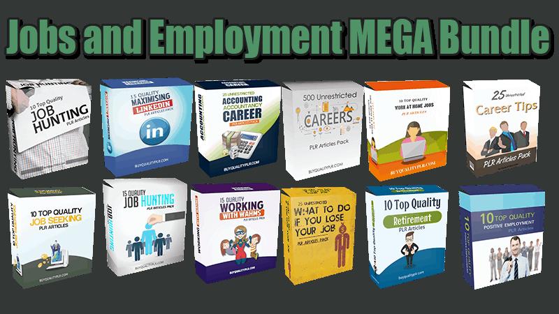 Jobs and Employment MEGA Bundle