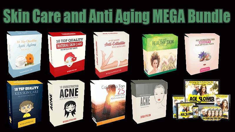 Skin Care and Anti Aging MEGA Bundle