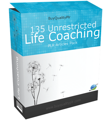 135 Unrestricted Life Coaching PLR Articles Pack