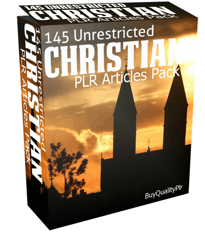 145 Unrestricted Christian PLR Articles Pack