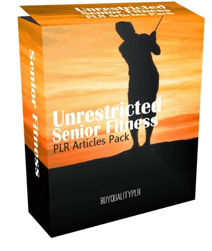 25 Unrestricted Senior Fitness PLR Articles Pack