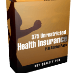 375 Unrestricted Health Insurance PLR Articles Pack