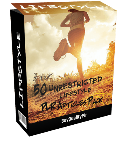 50 Unrestricted Lifestyle PLR Articles Pack