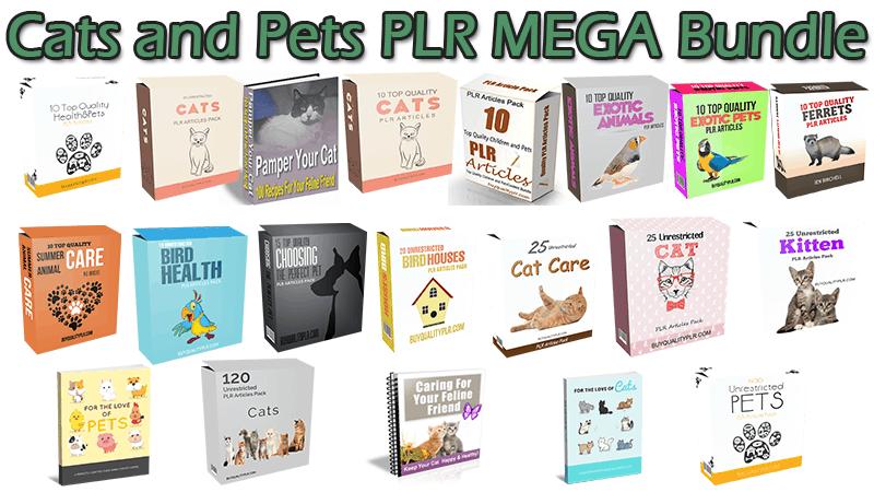 Cats And Pets PLR MEGA Bundle