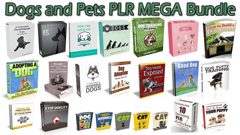 Dogs and Pets PLR MEGA Bundle