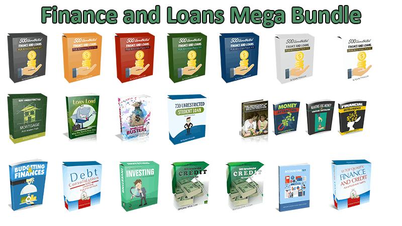 Finance and Loans Mega Bundle