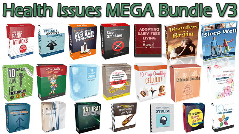 Health Issues MEGA Bundle V3