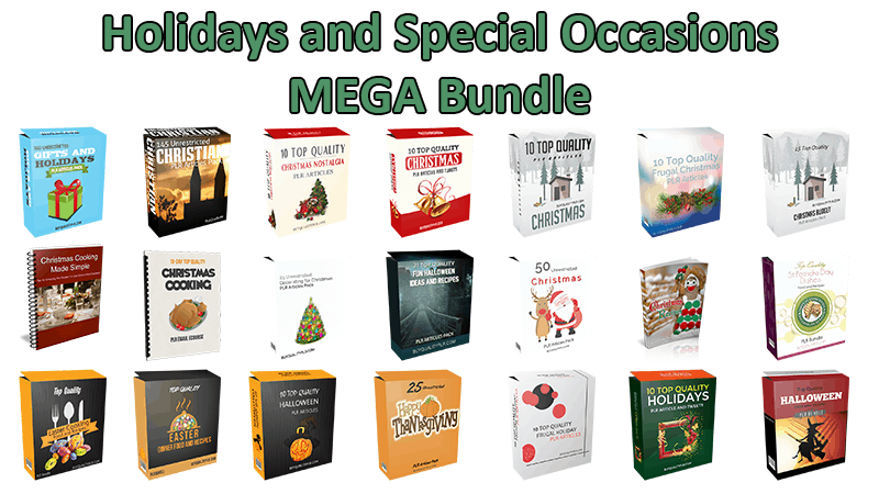 Holidays and Special Occasions Mega Bundle