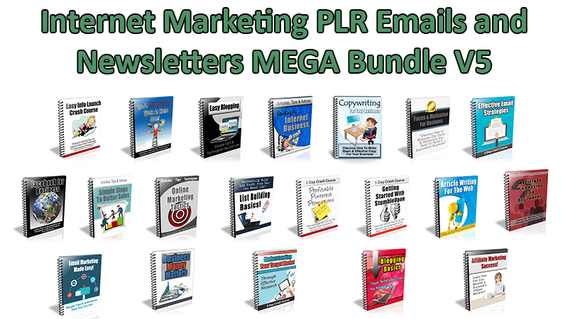 Internet Marketing PLR Emails and Newsletters V5 Mega Bundle