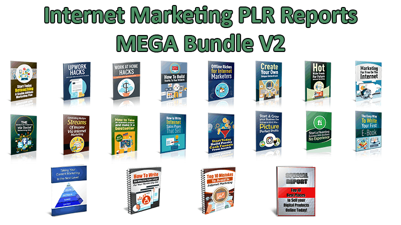 Internet Marketing PLR Reports Mega Bundle V2