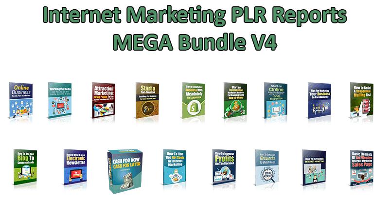 Internet Marketing PLR Reports V4 Mega Bundle