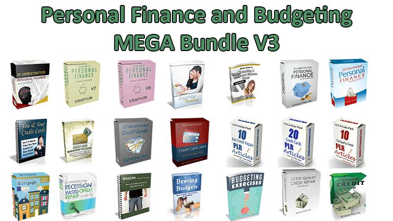 personal finance and budgeting v3 mega bundle