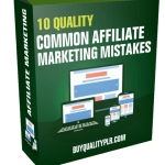 10 Quality Common Affiliate Marketing Mistakes PLR Articles Pack