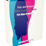 Man and Women Video Explainer Assets PLR Video Graphics