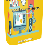 Video Explainer Assets PLR Video Graphics