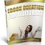 Ebook Creation For Illiterate PLR eBook