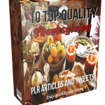 10 Top Quality Thanksgiving PLR Articles and Tweets