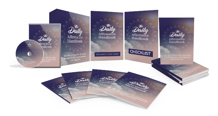The Daily Affirmation Handbook Sales Funnel with Master Resell Rights