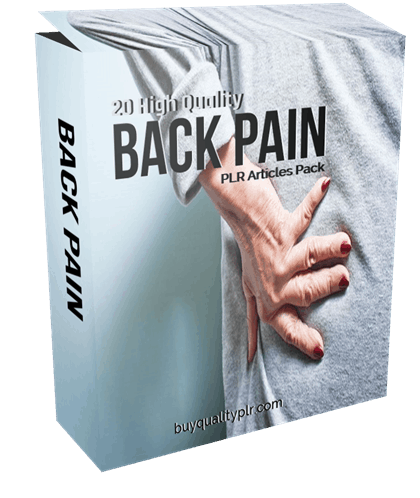 20 High Quality Back Pain PLR Articles Pack