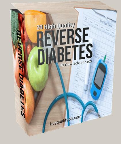 20 High Quality Reverse Diabetes PLR Articles Pack