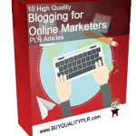 10 High Quality Blogging for Online Marketers PLR Articles