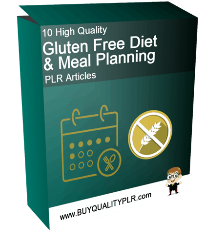 10 High Quality Gluten Free Diet and Meal Planning PLR Articles