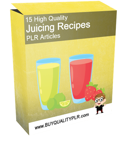 15 High Quality Juicing Recipes PLR Articles