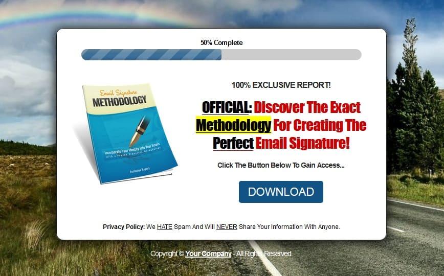 Email Signature Methodology PLR Report