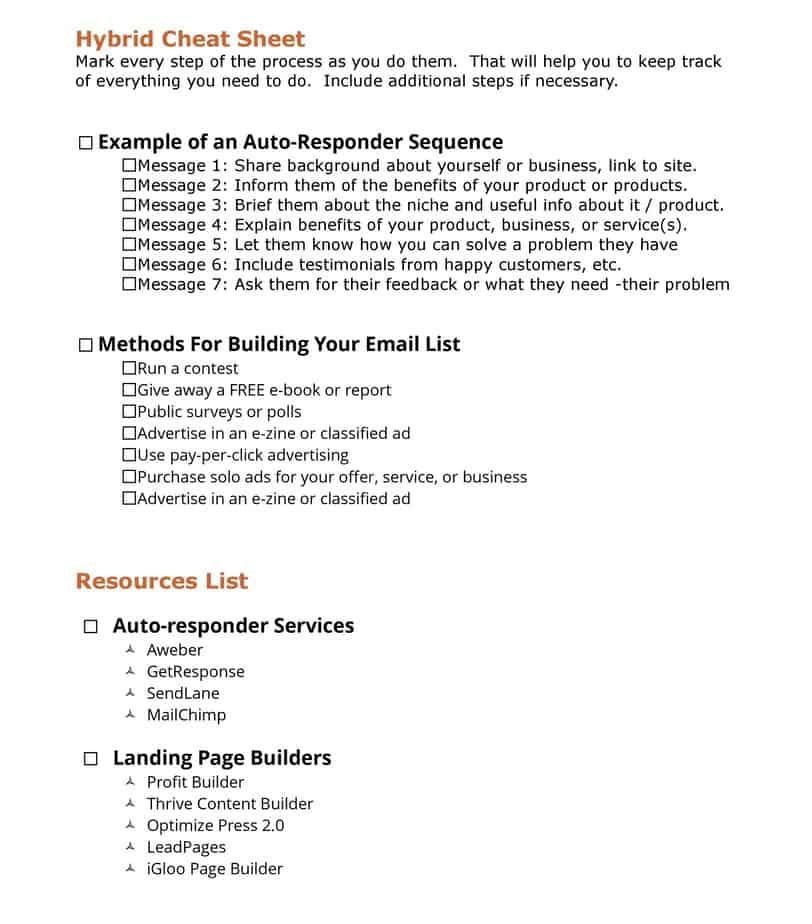 Follow Up Builder PLR Cheatsheet